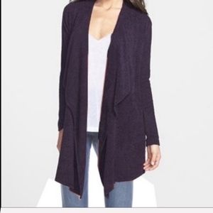 Barefoot dreams purple bamboo chic lite cardigan